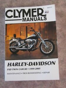CLYMER Motorcycle Repair Manual for Harley Davidson FXD TWIN CAM