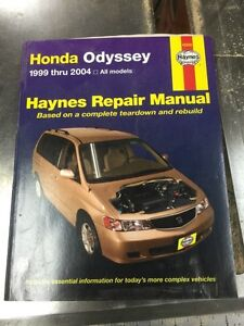 Haynes Repair Manual Honda Odyssey 1999 thru 2004