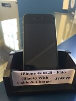 Like new! iPhone 4s with Fido 8GB