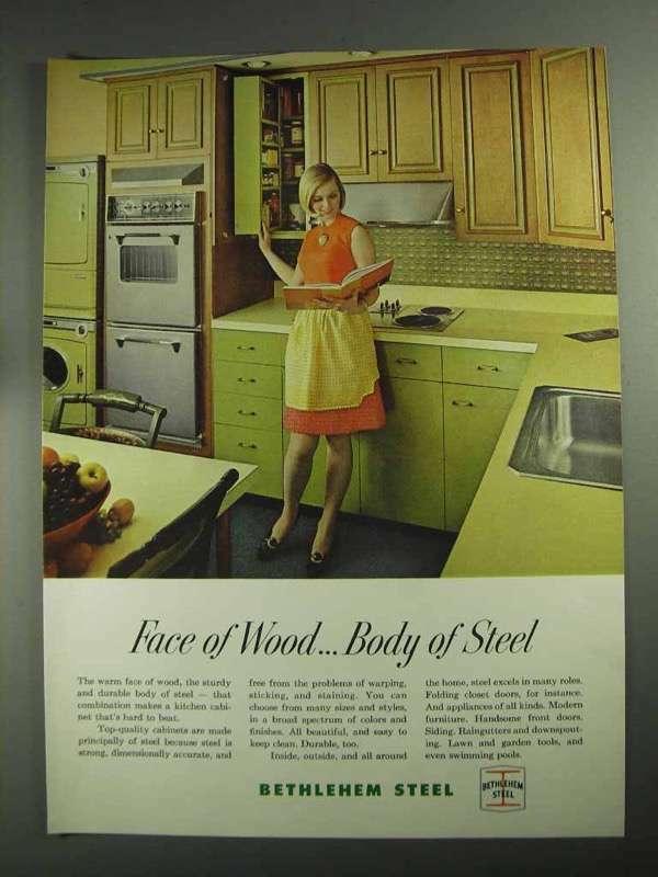 1968 Bethlehem Steel Ad - Face of Wood Body of Steel