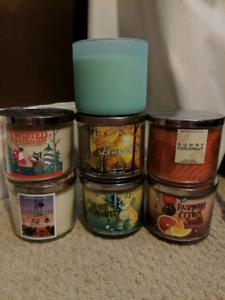 Bath & Body Works 3 Wick Candles
