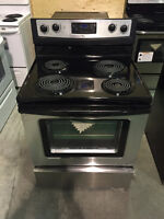 "ASSEMBLY APPLIANCES 30"" STAINLESS STEEL COIL TOP STOVE"