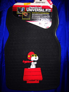 SNOOPY, PEANUTS Flying Ace Car/Vehicle Front Floor Mats-Vintage