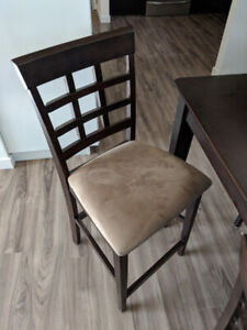 2 bar height chairs almost new
