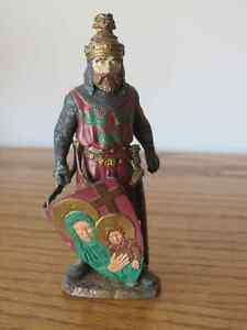 Vintage Authentic Miniature - Metal Crusader - hand painted