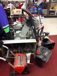 Snowblowers + electrical & gas powered