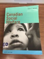 Canadian Social Welfare 6th Edition Used