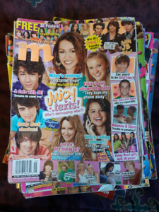 Stack of teen magazines