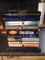 10 hard cover John Grisham novels