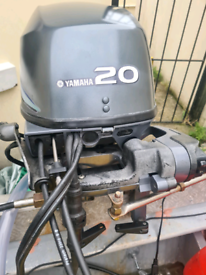 20hp yamaha 4 stroke outboard ptt short shaft with remotes.