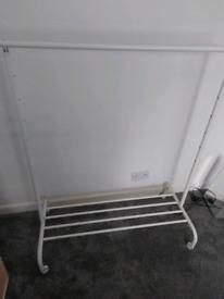 White leather running rail