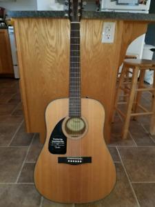 Left Handed Fender Acoustic Guitar