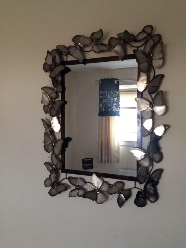 Butterfly Mirror From Dunelm Mill In East Kilbride