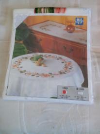 Vervaco table cloth cross stitch kit