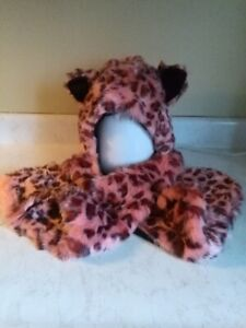 Ladies Animal  Hat, Scarf  all in one