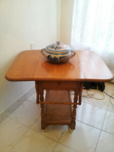Moving Sale: Beautiful High quality Wood Folding Serving Table