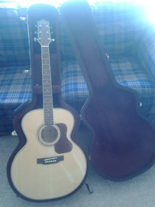 TCM Acoustic Guitar and Trave Case