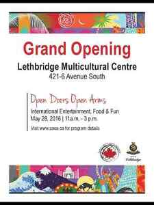 MULTICULTURAL CENTRE GRAND OPENING - FREE EVENT