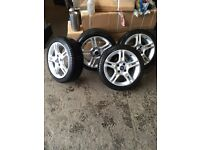 Ford Fiesta zetec S alloys (with brand new tires)