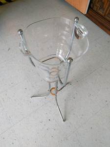 Ice bucket and metal stand great for patios and entertaining