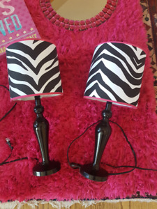 Zebra Themed table lamps - set of two (2)