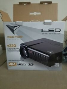 VECTOR 4K. 3D. Projection +NEW screen