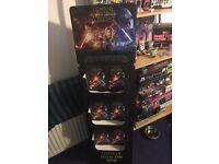 Star Wars force awakens DVD promo stand
