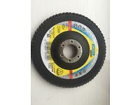 £1.50 metal grinding disc 125x22.23mm 60 grip