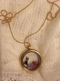 Gold Plated Memory Locket Necklace