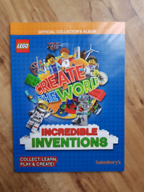 Lego Create The World Incredible Inventions series2 Collector Album