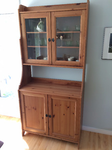 Leksvik Solid wood Hutch - You won't believe it's Ikea!