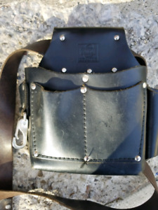 Used Leather corgo tool pouch with belt