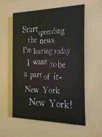 New York, New York canvas