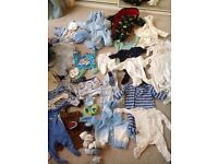 0-3 month baby boy bundle 50+ items and sleeping bags