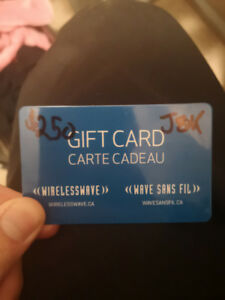 250$wireless wave gift card