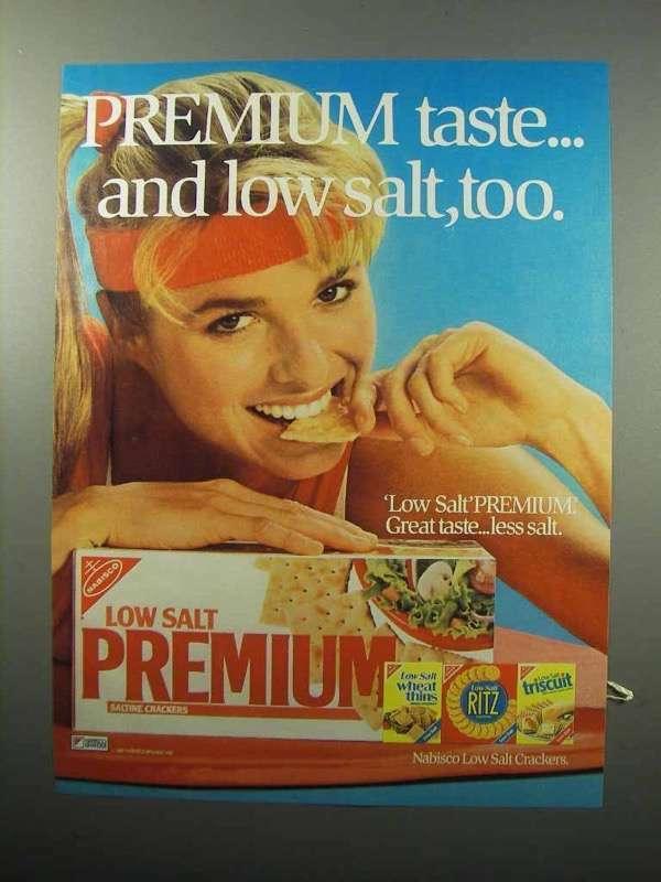 1987 Nabisco Premium Saltine Crackers Ad - Taste