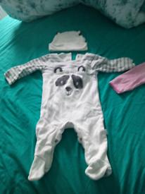 JoJo Maman Bebe Sleep suits x2 3 to 6 months