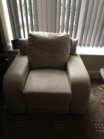 Single cream sofa