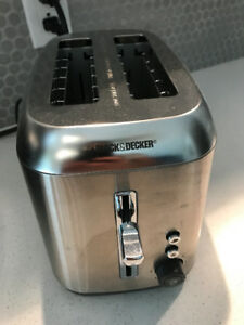 NEW CONDITION BLACK AND DECKER DOUBLE TOASTER