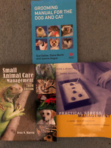 College Books Animal Care or Vet Tech or Stress Management