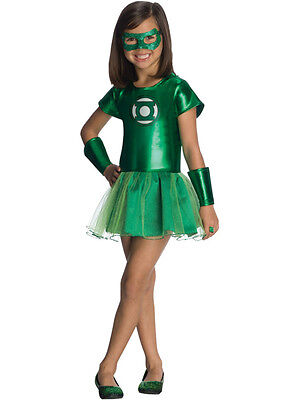 Child Licensed Girl Green Lantern Outfit Fancy Dress Costume Hal Jordan - Green Lantern Girl Costume