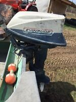 16ft deep wide Lund 18hp evinrude