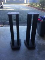 Audiophile Speaker Stands (Black painted steel)