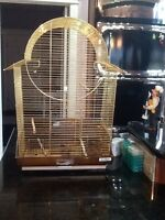 Used bird cage and stand