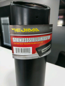 Black Stainless Steel exhaust tip- brand new