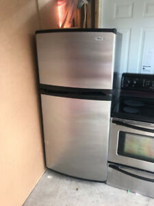 Whirlpool stainless steel 30 inch fridge for sale 66h30w30d