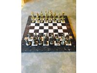 Marble Chess Set and Pieces
