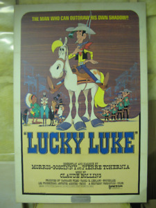 Lucky Luke on hard-board poster