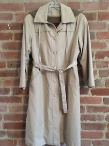 Lined Trench Coat With Hoodie Small / Trench Doublé Petit