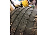 VW part worn tyre.